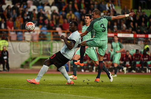 29.03.2016. Leiria, Portugal.  Lukaku Romelu forward of Belgium  during the FIFA international friendly match between Portugal and Belgium as part of the preparation of the Belgian national soccer team prior to the UEFA EURO 2016  in Leiria, Portugal.