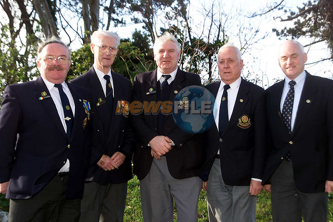 Bernard O'Connor, Willie Boyle, Brendan O'Sullivan, Jack Kinsella and Eddie Quinn, members of O.N.E. Slane,  after the mass in Julianstown on Sunday..Picture: Paul Mohan/Newsfile