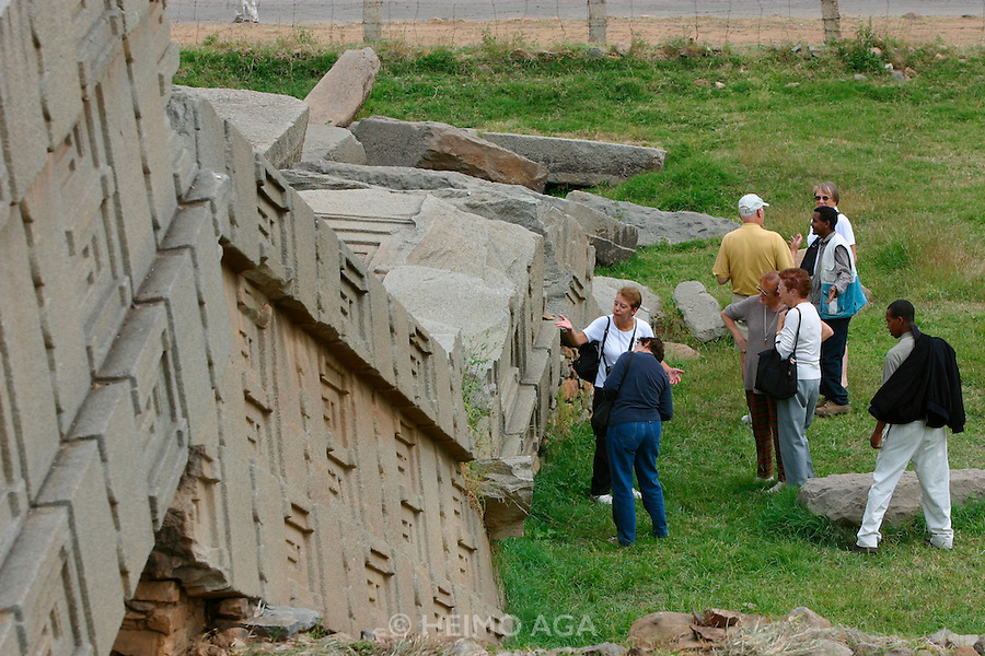 AXUM, TIGRAY/ETHIOPIA..Steles (obelisques) marking Kings' graves at the former Capital..(Photo by Heimo Aga)
