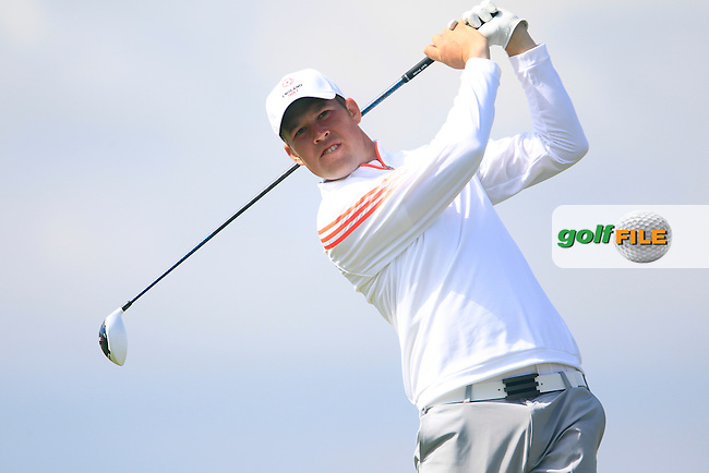 Sean Towndrow (ENG) during the Home Internationals day 2 foursomes matches supported by Fairstone Financial Management Ltd. at Royal Portrush Golf Club, Portrush, Co.Antrim, Ireland.  13/08/2015.<br /> Picture: Golffile | Fran Caffrey<br /> <br /> <br /> All photo usage must carry mandatory copyright credit (&copy; Golffile | Fran Caffrey)