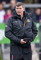Exeter Cheifs' Head Coach Rob Baxter<br /> <br /> Photographer Bob Bradford/CameraSport<br /> <br /> Anglo Welsh Cup Semi Final - Exeter Chiefs v Newcastle Falcons - Sunday 11th March 2018 - Sandy Park - Exeter<br /> <br /> World Copyright &copy; 2018 CameraSport. All rights reserved. 43 Linden Ave. Countesthorpe. Leicester. England. LE8 5PG - Tel: +44 (0) 116 277 4147 - admin@camerasport.com - www.camerasport.com