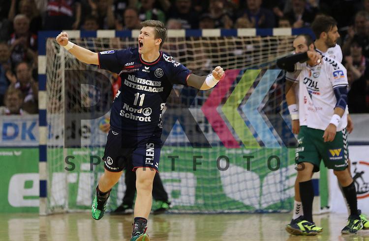 Flensburg, 15.03.16, Sport, Handball, DKB Handball Bundesliga, SG Flensburg-Handewitt-HSG Wetzlar : Jubel bei Lasse Svan (SG Flensburg-Handewitt, #11)<br /> <br /> Foto &copy; PIX-Sportfotos *** Foto ist honorarpflichtig! *** Auf Anfrage in hoeherer Qualitaet/Aufloesung. Belegexemplar erbeten. Veroeffentlichung ausschliesslich fuer journalistisch-publizistische Zwecke. For editorial use only.