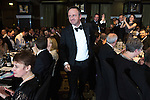© Joel Goodman - 07973 332324 . 03/03/2016 . Manchester , UK . Winner Team of the Year (obo Eversheds) SIMON MASTERS (centre) . The Manchester Legal Awards from the Midland Hotel . Photo credit : Joel Goodman
