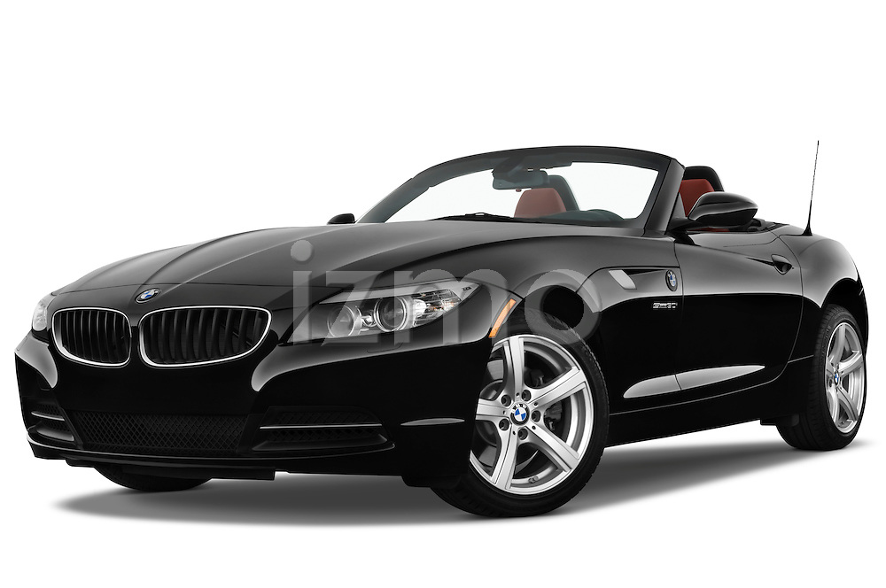 Low aggressive front three quarter view of a 2009 BMW Z4 3.0i.