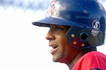 30 June 2007: Lowell Spinners infielder Jorge Jimenez awaits his turn in the batting cage prior to a game against the Vermont Lake Monsters at Historic Centennial Field in Burlington, Vermont. The Spinners defeated the Lake Monsters 8-4 in the last game of their 3-game, NY Penn-League series...Mandatory Photo Credit: Ed Wolfstein Photo