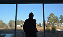 Reflection<br /> Bryan Roth, senior writer/producer, Office of Communication Services<br /> bryan.roth@duke.edu<br /> <br /> While on assignment for Duke Today, I met with Elizabeth Albright, assistant professor of the practice of environmental science and policy methods at the Nicholas School of the Environment. While we met, Professor Albright took a moment to look out the windows of the Nicholas School's art gallery, which overlooks landscaping and an art installation called &quot;In Good Time&quot; specially made for the school.<br /> <br /> --<br /> Bryan Roth<br /> Senior Writer/Producer<br /> Office of Communication Services<br /> Duke University<br /> (919) 681-9965<br /> (919) 681-7926 (fax)<br /> bryan.roth@duke.edu