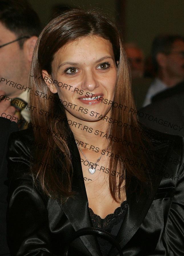 Fudbal, Fudbalski savez Srbije&amp;#xD;Ana Stankovic, supruga Dejana Stankovica&amp;#xD;Beograd, 14.12.2006.&amp;#xD;foto: SRDJAN STEVANOVIC<br />
