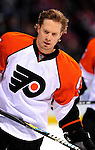 7 December 2009: Philadelphia Flyers' defenseman Kimmo Timonen warms up prior to a game against the Montreal Canadiens at the Bell Centre in Montreal, Quebec, Canada. The Canadiens defeated the Flyers 3-1. Mandatory Credit: Ed Wolfstein Photo