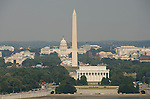 Washington DC USA: The Washington Monument, Lincoln Memorial, and Capitol, as seen from Arlington, VA.Photo copyright Lee Foster Photo # 2-washdc82804