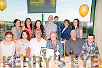 Celebrating their Golden Wedding with family at the Kingdom Greyhound Stadium on Friday were Kevin and Helen O'Connor from the Kerries Tralee .  Pictured front l-r Hannah Shalvey, Amy Shalvey, Kevin O'Connor, Helen O'Connor, Tommy Shalvey, Conor Cronin, Back l-r Fiona Shalvey, Ann O'Connor, Grace O'Connor, Tom Cronin, Darragh Cronin, Noelle O'Connor and Katie Hickey