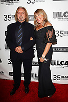 LOS ANGELES - OCT 19:  Geezer Butler, Gloria Butler at the Last Chance for Animals' 35th Anniversary Gala at the Beverly Hilton Hotel on October 19, 2019 in Beverly Hills, CA