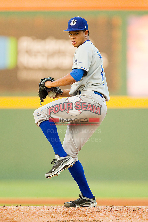 Starting pitcher Chris Archer #15 of the Durham Bulls in action against the Charlotte Knights at Knights Stadium on September 1, 2011 in Fort Mill, South Carolina.  (Brian Westerholt / Four Seam Images)