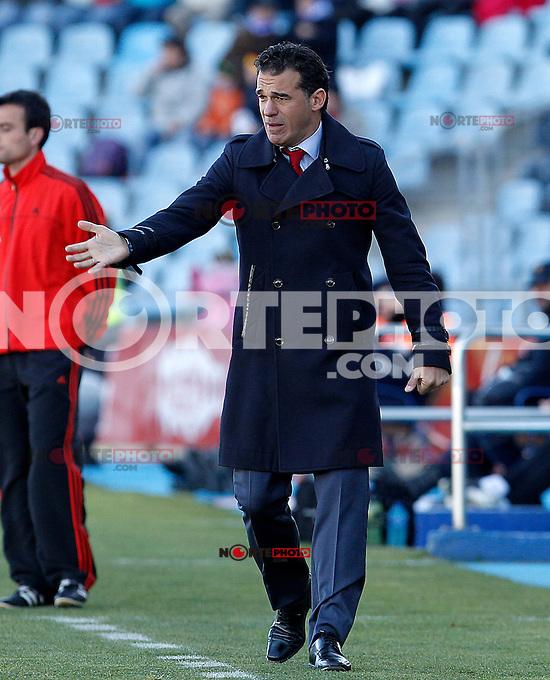 Getafe's coach Luis Garcia during La Liga match.December 01,2012. (ALTERPHOTOS/Acero) ©/NortePhoto