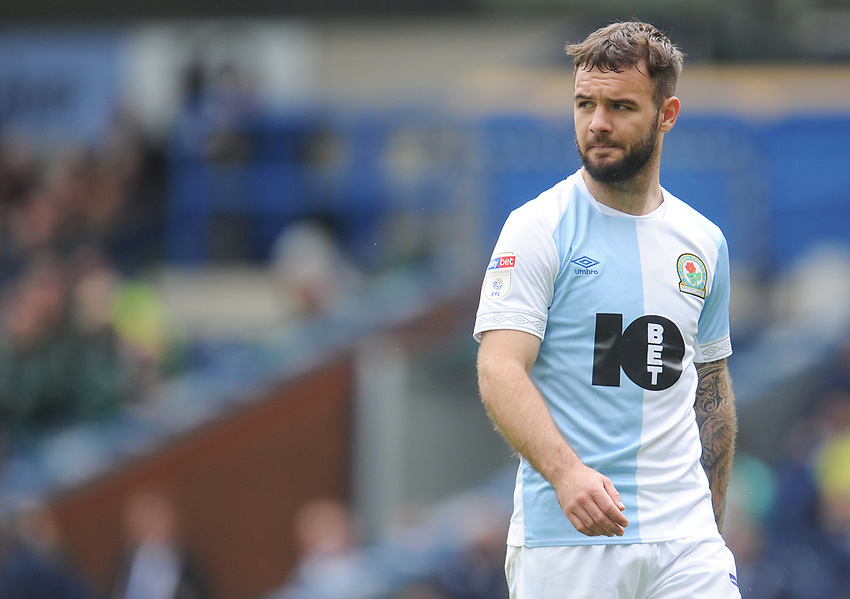 Blackburn Rovers' Adam Armstrong<br /> <br /> Photographer Kevin Barnes/CameraSport<br /> <br /> The EFL Sky Bet Championship - Blackburn Rovers v Swansea City - Sunday 5th May 2019 - Ewood Park - Blackburn<br /> <br /> World Copyright © 2019 CameraSport. All rights reserved. 43 Linden Ave. Countesthorpe. Leicester. England. LE8 5PG - Tel: +44 (0) 116 277 4147 - admin@camerasport.com - www.camerasport.com