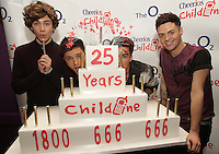 20/11/13<br /> Union J(L-R)   George Shelley,JJ Hamblett Josh Cuthbert and Jaymi Hensley who will be performing Cheerios Childline Concert at the O2 Dublin this evening&hellip;.<br /> Pic Collins Photos
