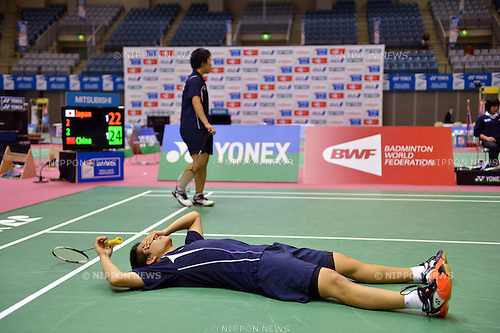 (L to R) Akira Koga (JPN), Akane Yamaguchi (JPN),.OCTOBER 28,2012 - Badminton : Yonex BWF World Junior Mixed team championships 2012 during Mixed Doubles at Chiba Port Arena, Chiba, Japan. (Photo by Jun Tsukida/AFLO SPORT) [0003].