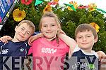 Stephen, Katie and Daniel Grogan Killarney enjoying the street entertainment at the Killarney Summerfest on Monday evening