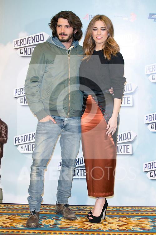 """Yon Gonzalez and Blanca Suarez attend the """"Perdiendo El Norte"""" Movie Presentation at Intercontinental Hotel, Madrid,  Spain. March 03, 2015.(ALTERPHOTOS/)Carlos Dafonte)"""