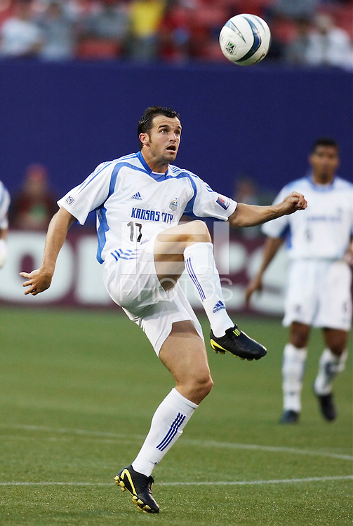 The Wizard's Chris Klein. The Kansas City Wizards were defeated by  the NY/NJ MetroStars to a 1 to 0 at Giant's Stadium, East Rutherford, NJ, on May 30, 2004.