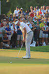 Ian Poulter eyes up his putt on the 18th during the final round of the Dubai World Championship on the Earth Course at the Jumeirah Golf Estate, Dubai..Picture Fran Caffrey/www.golffile.ie.