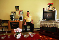 Oscar Osorio, a Guatemalan immigrant, sits in his home in Woodbridge, Virginia. He can no longer afford his mortgage repayments, and will soon be moving out. The area is suffering from a major collapse in the housing market following the subprime crisis and global credit crunch, which has forced the foreclosure and abandonment of numerous properties...