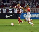 Junior venció 1-0 (3-0 en el global) a Independiente Santa Fe. Semifinales Conmebol Sudamericana 2018.
