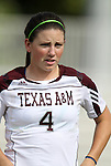 09 September 2011: Texas A&M's Meghan Streight. The Duke University Blue Devils defeated the Texas A&M Aggies 7-2 at Koskinen Stadium in Durham, North Carolina in an NCAA Division I Women's Soccer game.
