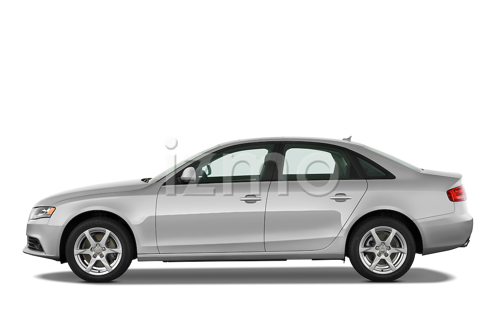 Driver side profile view of a 2011 Audi A4 Sedan