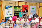 Sinn Fein's Mary Lou McDonald TD speaking at the public meeting on austerity at the Meadowlands hotel, Tralee on Friday.