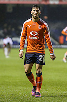 Luke Gambin of Luton Town during the Sky Bet League 2 match between Luton Town and Cheltenham Town at Kenilworth Road, Luton, England on 31 January 2017. Photo by David Horn / PRiME Media Images