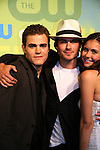 Guiding Light's Paul Wesley - Ian Somerhalder - Nina Dobrev - The Vampire Diaries at the CW Upfront 2009 on May 21, 2009 at Madison Square Gardens, New York NY. (Photo by Sue Coflin/Max Photos)