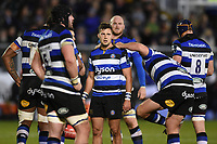 Max Green of Bath Rugby looks on. Anglo-Welsh Cup match, between Bath Rugby and Leicester Tigers on November 10, 2017 at the Recreation Ground in Bath, England. Photo by: Patrick Khachfe / Onside Images