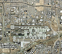 aerial map of Phoenix Sky Harbor International Airport, Phoenix, Arizona