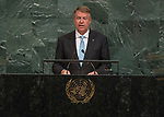 72 General Debate – 20 September <br /> <br /> His Excellency Klaus Werner Iohannis, President of Romania