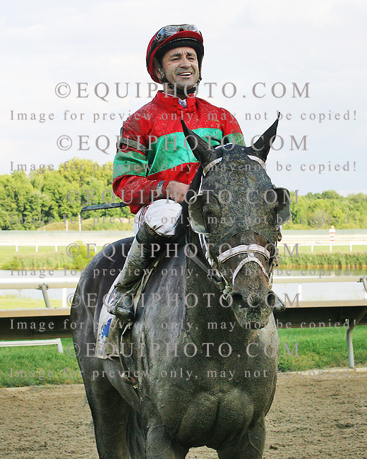 Protonico #8 with Joe Bravo riding won the $300,000 Smarty Jones Stakes at Parx Racing in Bensalem, Pennsylvania September 1, 2014 Photo by Bill Denver / EQUI-PHOTO