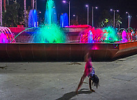 Manila, Philippines all walks of life. Street Photography Street Children and local Tourist at the colourful water fountain in Malate near the Malate Catholic Church, Philippines