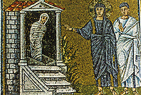 Ravenna: Mosaic--The Raising of Lazarus. Basilica of Nuovo Sant'Apollinare.