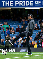 Jurgen Klopp manager of Liverpool during the Premier League match between Chelsea and Liverpool at Stamford Bridge, London, England on 22 September 2019. Photo by Liam McAvoy / PRiME Media Images.