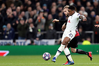 Konrad Laimer of RB Leipzig  and Steven Bergwijn of Tottenham Hotspur during Tottenham Hotspur vs RB Leipzig, UEFA Champions League Football at Tottenham Hotspur Stadium on 19th February 2020