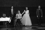 "Finn Wittrock, Madison Ferris, Sally Field and Joe Mantello during the Broadway Opening Night Performance Curtain Call Bows for ""The Glass Menagerie'"" at the Belasco Theatre on March 9, 2017 in New York City."