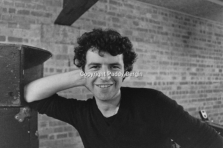Portrait of Paddy Bergin in the 70s.<br />