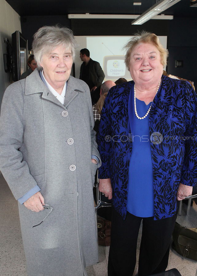 ***NO FEE PIC***.15/11/2010.(L to R).Sister Margaret Reid from St Michael's convent Dun Laoghaire.Monica Barnes Board Member at Children's Hope.at the launch of Children's Hope.TV at The Media Cube, IADT,Dun Laoghaire, Co. Dublin..The Irish children's Charity Children's Hope has developed an online educational resource for young people & youth workers, a website caleed www.childrens-hope.tv..The websitte features short curriculm-adhering educational programmes available to be played by young people in after-school projects geared to Youth & Comunity Leaders..Photo: Gareth Chaney Collins