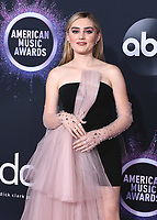 LOS ANGELES, CA - NOVEMBER 24:  Meg Donnelly at the 2019 American Music Awards at the Microsoft Theater on November 24, 2019 in Los Angeles, California. (Photo by Frank Micelotta/PictureGroup)