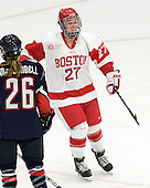 Tara Watchorn (BU - 27) - The Boston University Terriers defeated the visiting University of Connecticut Huskies 4-2 on Saturday, November 19, 2011, at Walter Brown Arena in Boston, Massachusetts.