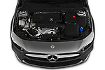 Car Stock 2019 Mercedes Benz A-Class A-200 4 Door Sedan Engine  high angle detail view