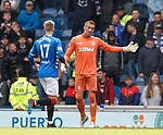 05.05.2019 Rangers v Hibs: Allan McGregor tells Ross McCrorie he is in goals