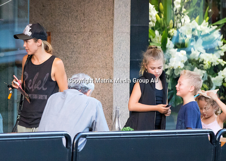 15 MARCH 2016 SYDNEY, AUSTRALIA<br /> <br /> EXCLUSIVE PICTURES<br /> <br /> Bec Hewitt pictured with Mia, Cruz and Ava leaving a Pizza Restaurant in Melbourne. <br /> <br />  <br /> *ALL WEB USE MUST BE CLEARED*<br /> <br /> Please contact prior to use:  <br /> <br /> +61 2 9211-1088 or email images@matrixmediagroup.com.au <br /> <br /> Note: All editorial images subject to the following: For editorial use only. Additional clearance required for commercial, wireless, internet or promotional use.Images may not be altered or modified. Matrix Media Group makes no representations or warranties regarding names, trademarks or logos appearing in the images.<br /> <br /> <br /> *ALL WEB USE MUST BE CLEARED*<br /> <br /> Please contact prior to use:  <br /> <br /> +61 2 9211-1088 or email images@matrixmediagroup.com.au <br /> <br /> Note: All editorial images subject to the following: For editorial use only. Additional clearance required for commercial, wireless, internet or promotional use.Images may not be altered or modified. Matrix Media Group makes no representations or warranties regarding names, trademarks or logos appearing in the images.