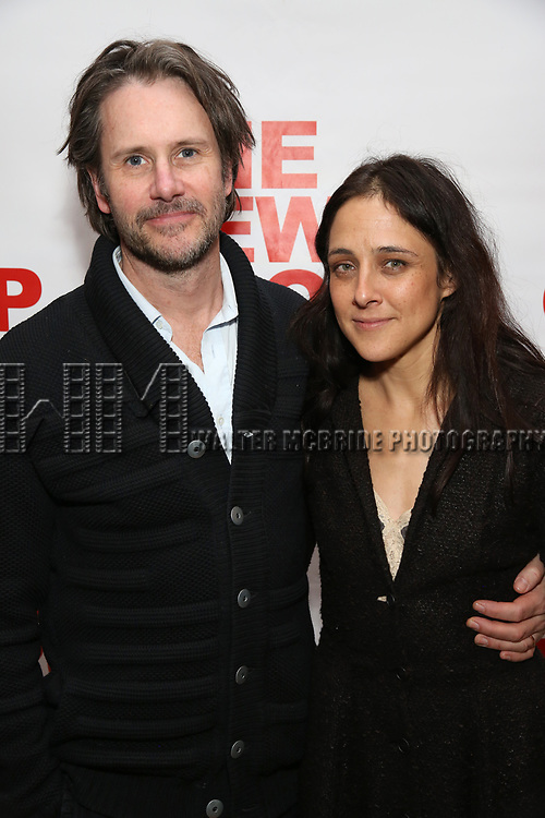 "Josh Hamilton and Lily Thorne attends The New Group presents the New York Premiere Opening Night of David Rabe's for ""Good for Otto"" on March 8, 2018 at the Green Fig Urban Eatery,  in New York City."