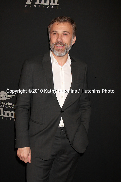 Christoph Waltz.arriving at the 25th Santa Barbara International Film Festival Cinema Vanguard Awards.Lobero Theater.Santa Barbara, CA.February 12, 2010.©2010 Kathy Hutchins / Hutchins Photo....