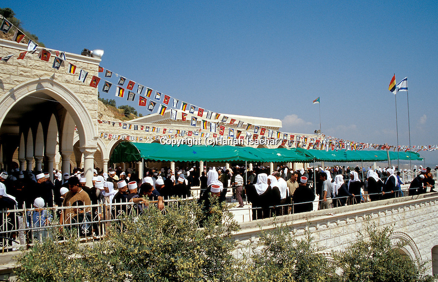 Israel, the lower Galilee. The annual pilgrimage to Nabi Shueib, the sacred site of the Druze, for here they venerate the tomb of Moses' father-in-law Jethro&#xA;&#xA;<br />